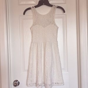 Jrs lace burnout ivory dress